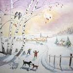 Carte de Noël d'antan