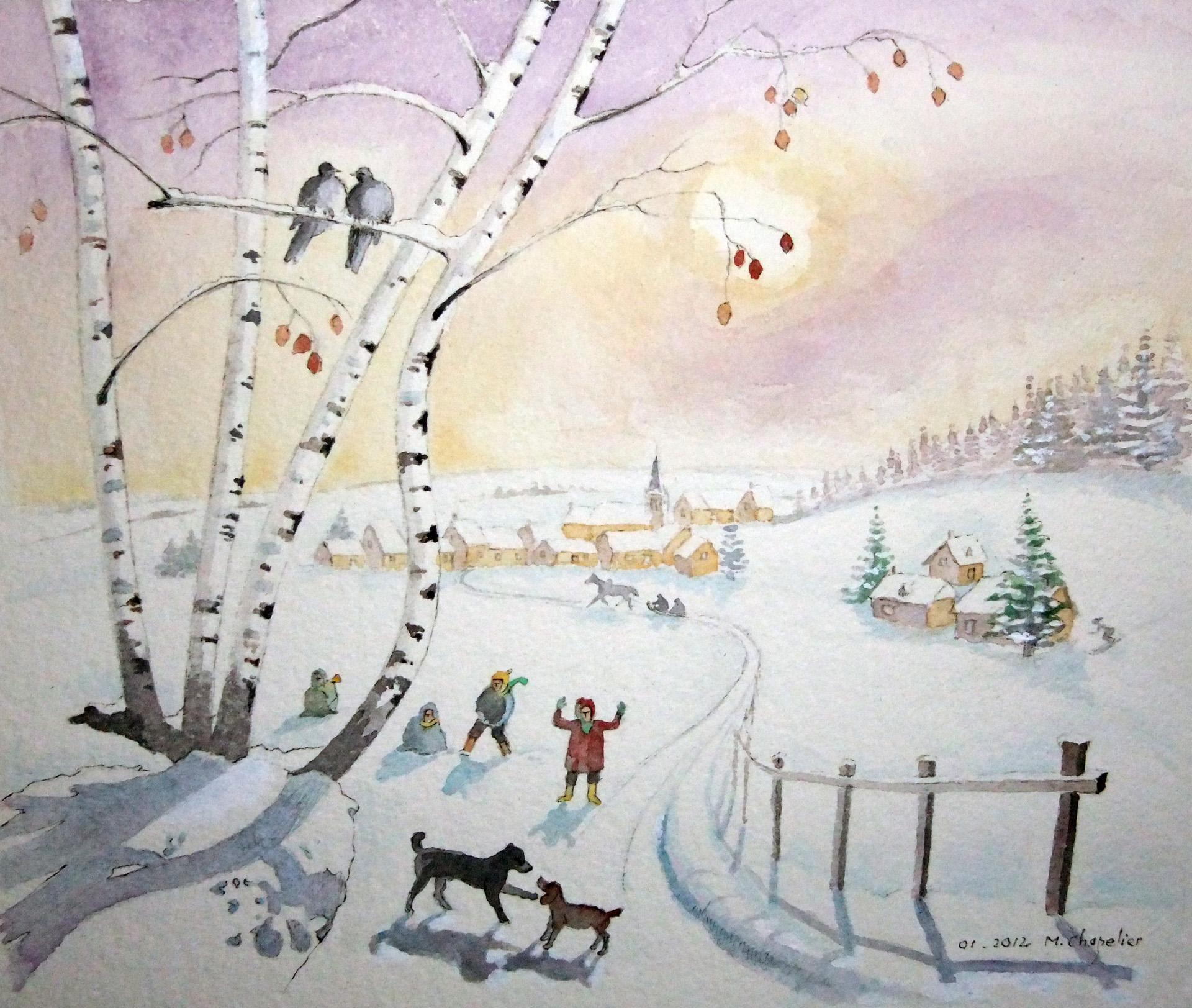 Carte de Noel de jadis