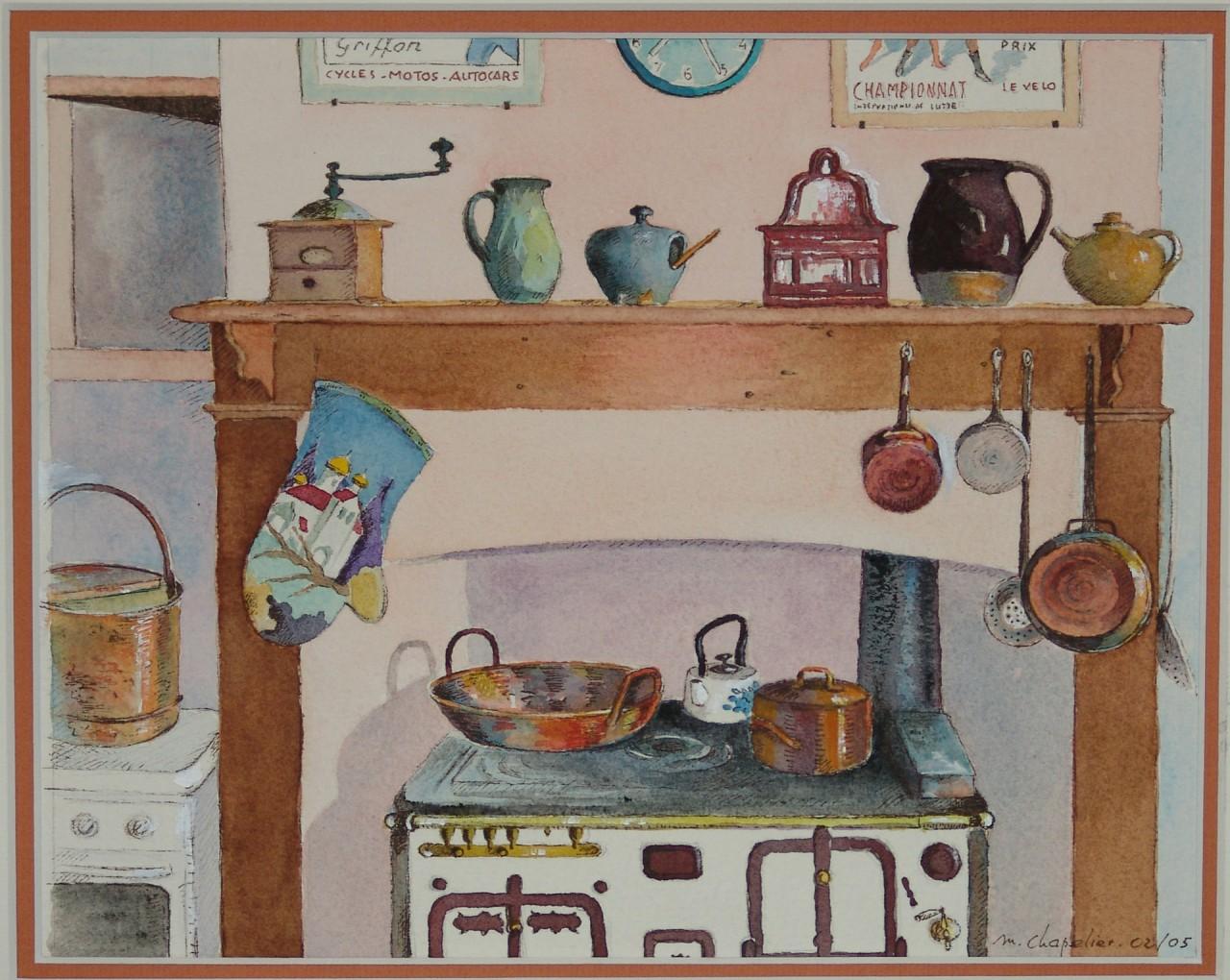 Ancienne cuisine en puisaye michel chapelier for Photos cuisines anciennes