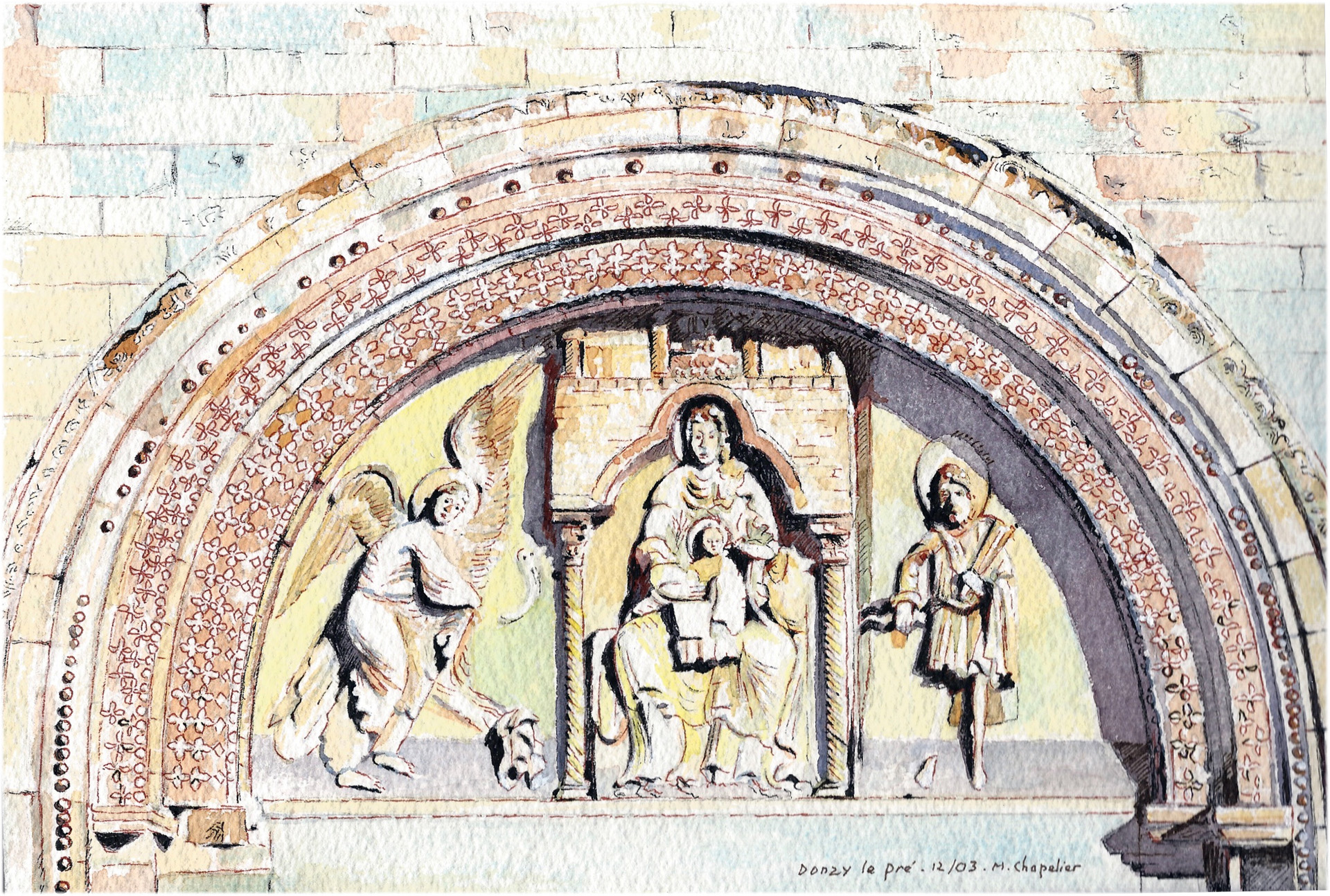 A02 Donzy le pré - Tympan du 12ème siècle