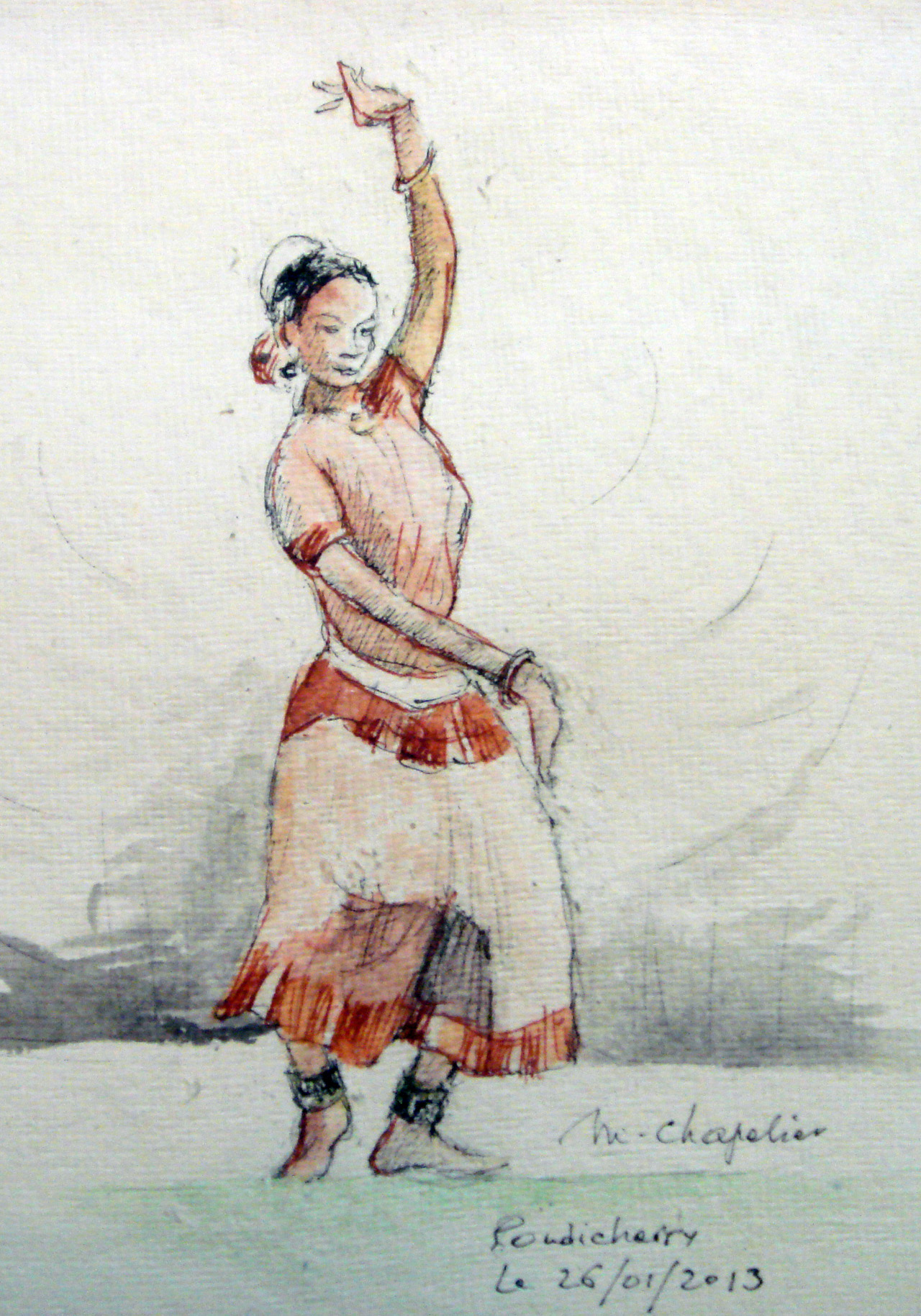 Danseuse à Pondicherry