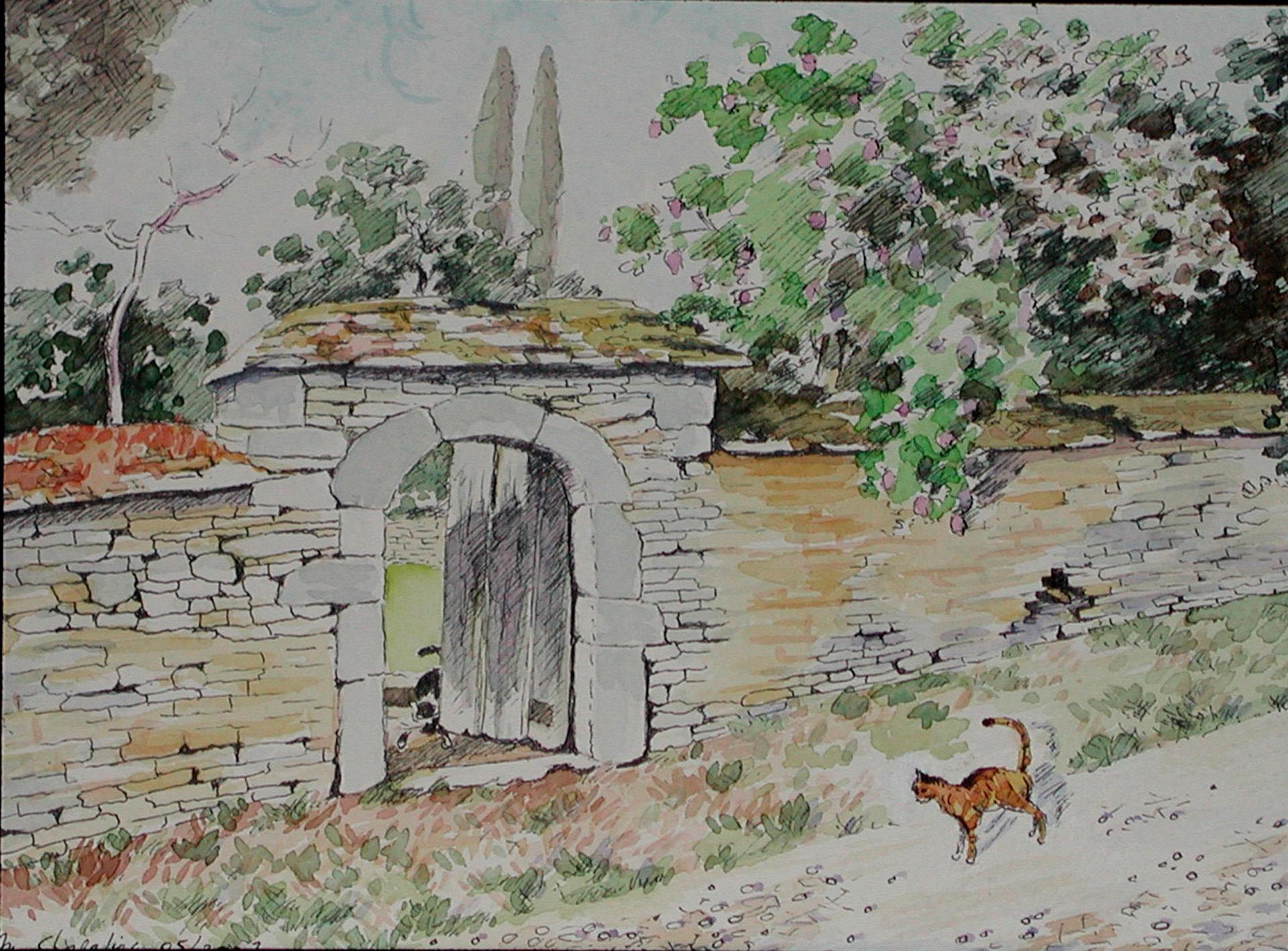 Michel chapelier peintures page 10 for Porte de jardin