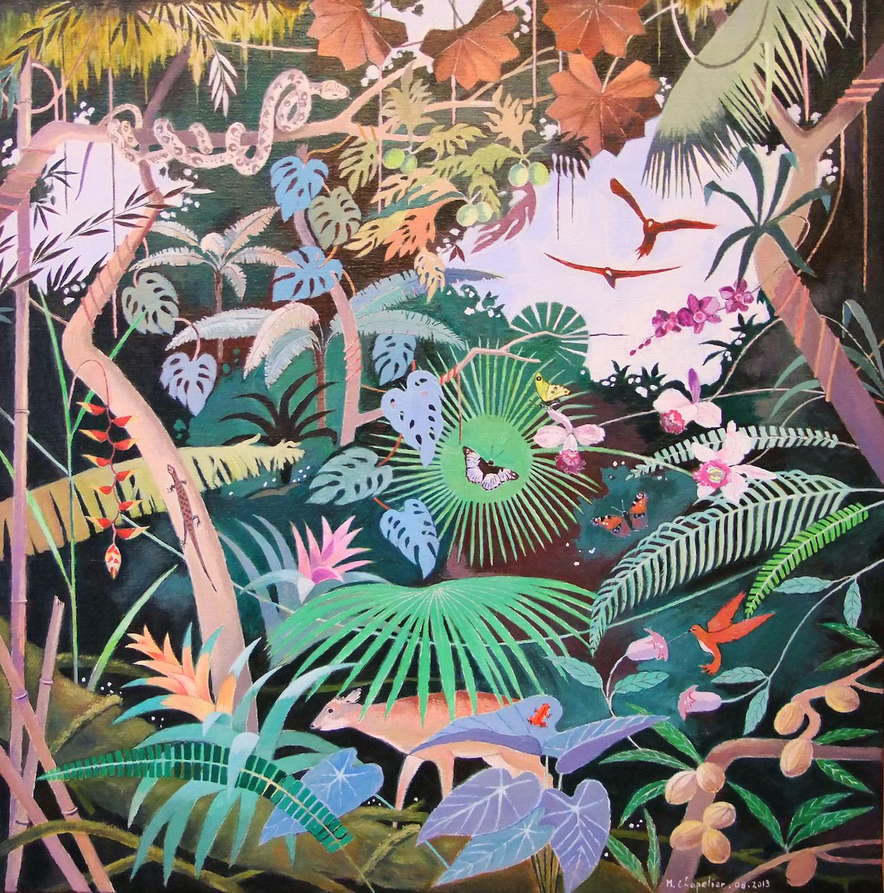 Faune et flore de forêt tropicale