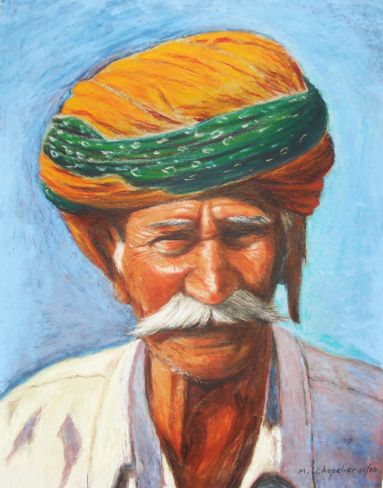 Inde Homme du Rajasthan